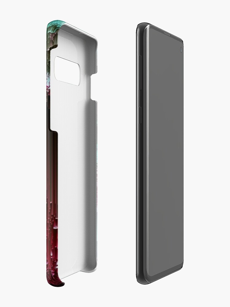 Alternate view of Amoeba - Abstract Glitchy Pixel Art Case & Skin for Samsung Galaxy