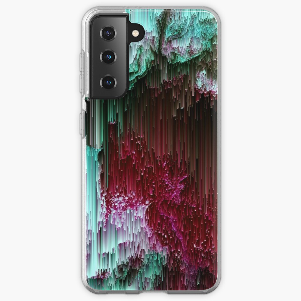 Amoeba - Abstract Glitchy Pixel Art Case & Skin for Samsung Galaxy