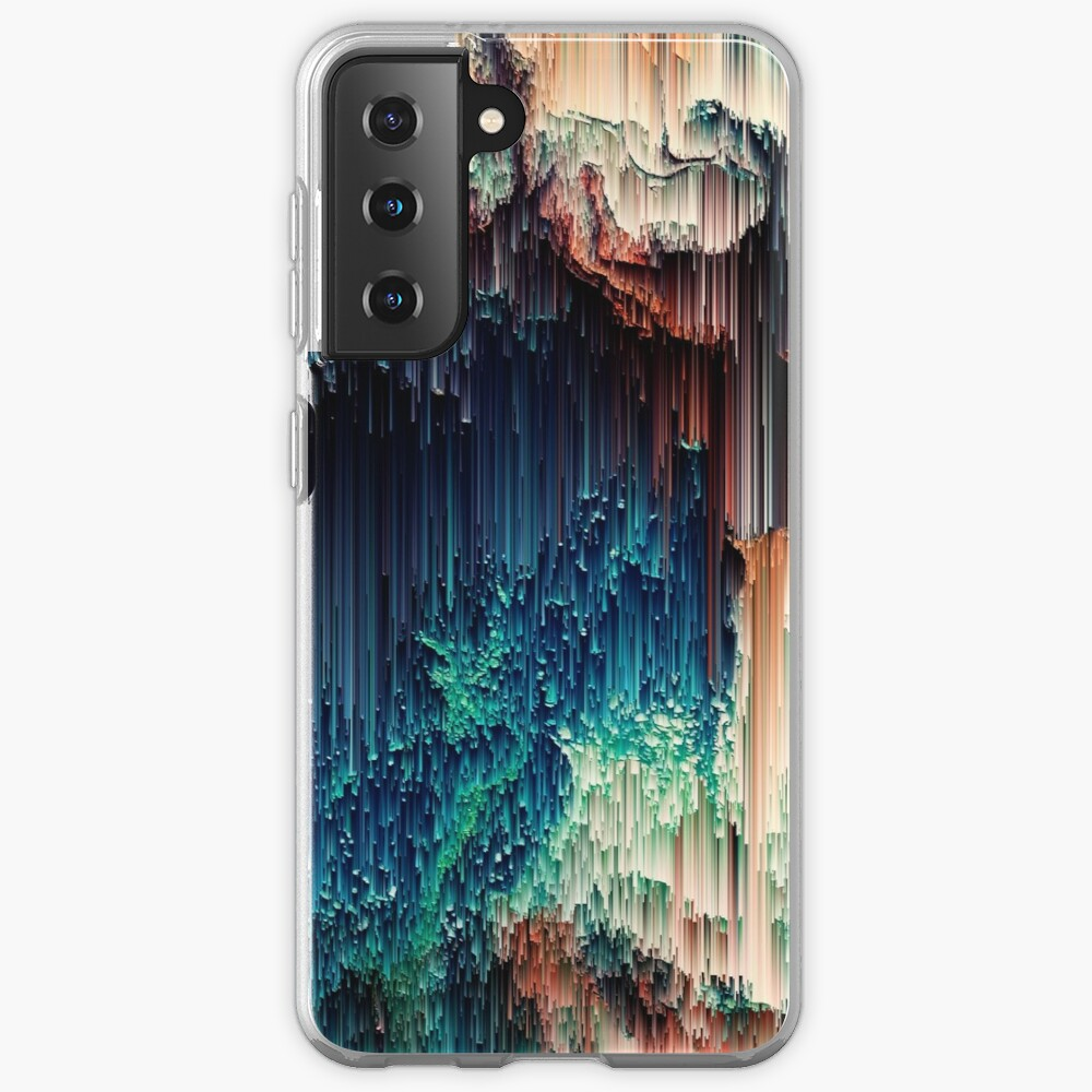 Cave of Wonders - Abstract Glitchy Pixel Art Case & Skin for Samsung Galaxy