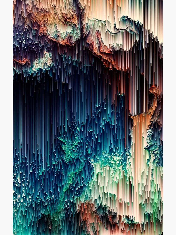 Cave of Wonders - Abstract Glitchy Pixel Art by InsertTitleHere