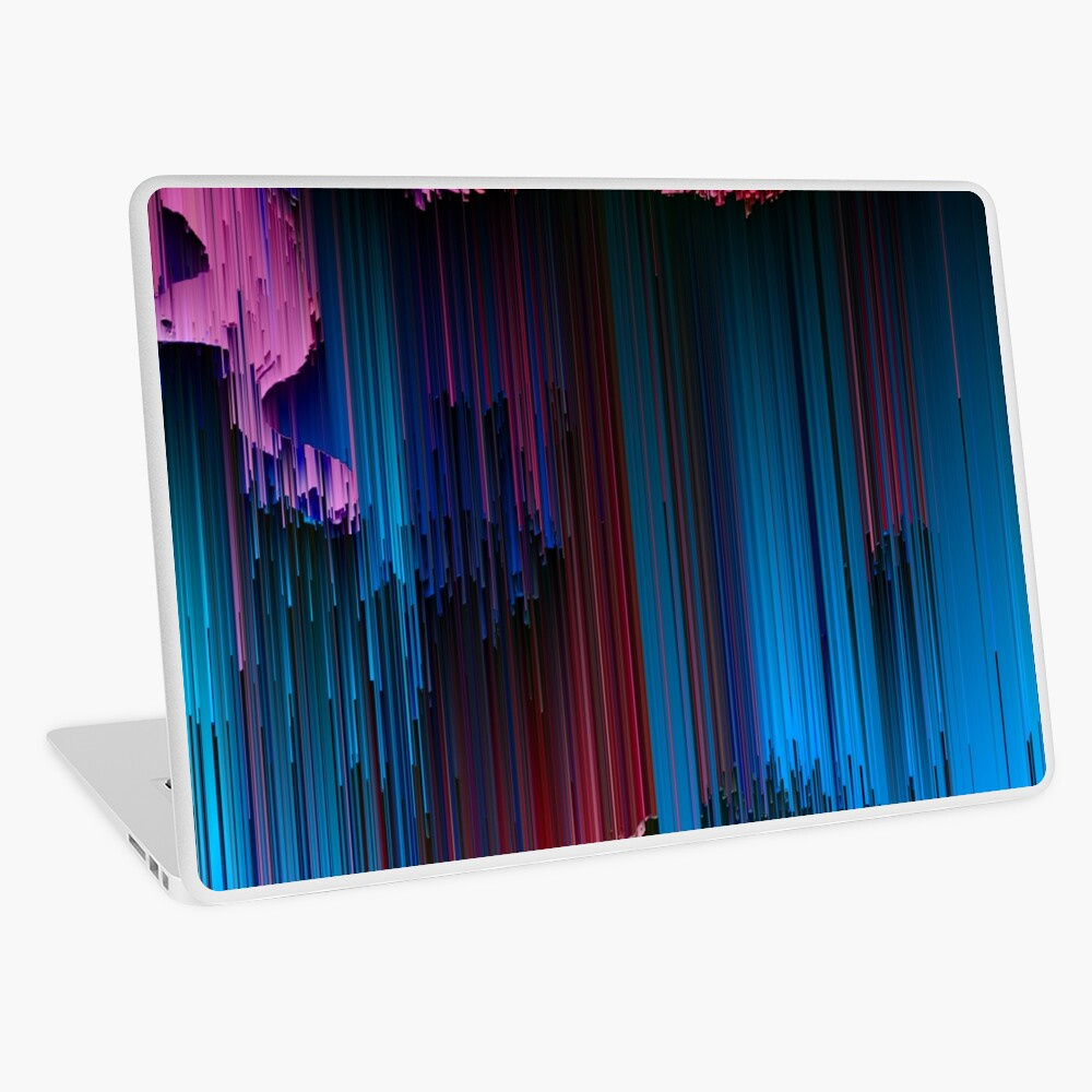 Cotton Candy - Abstract Glitchy Pixel Art Laptop Skin