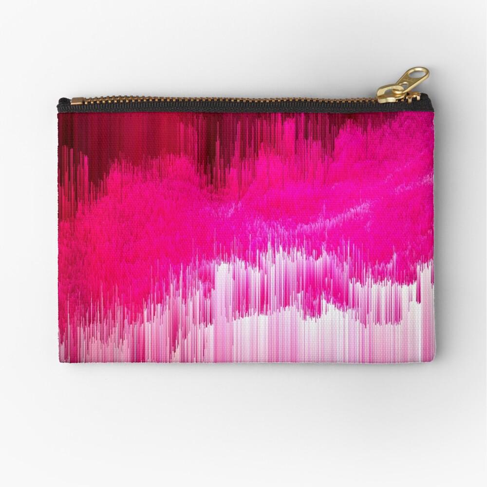 Frisson - Abstract Pixel Art Zipper Pouch