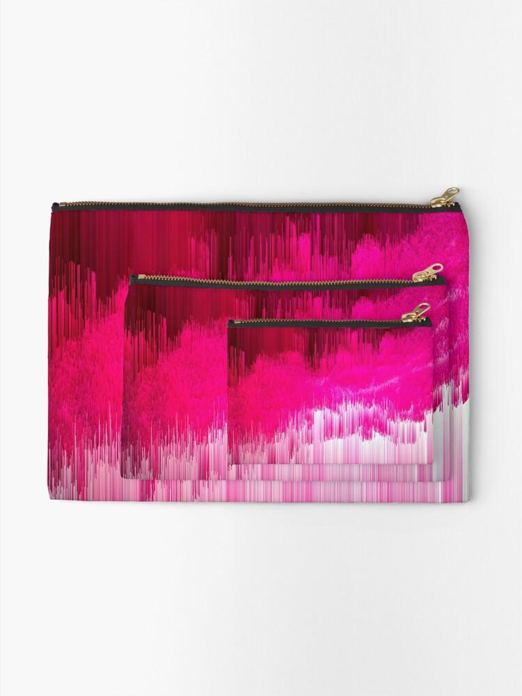 Alternate view of Frisson - Abstract Pixel Art Zipper Pouch