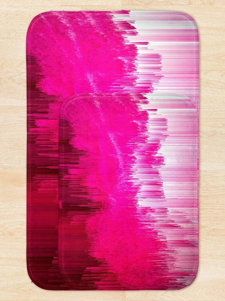 Alternate view of Frisson - Abstract Pixel Art Bath Mat