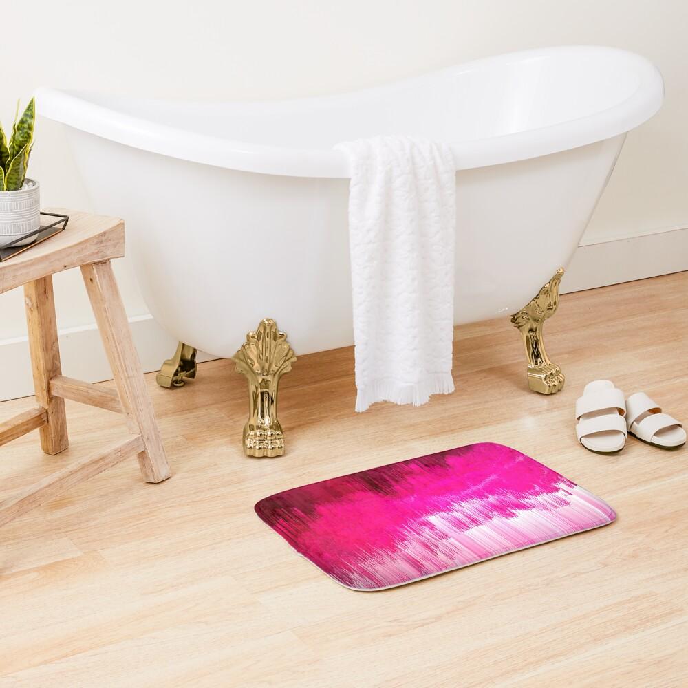 Frisson - Abstract Pixel Art Bath Mat