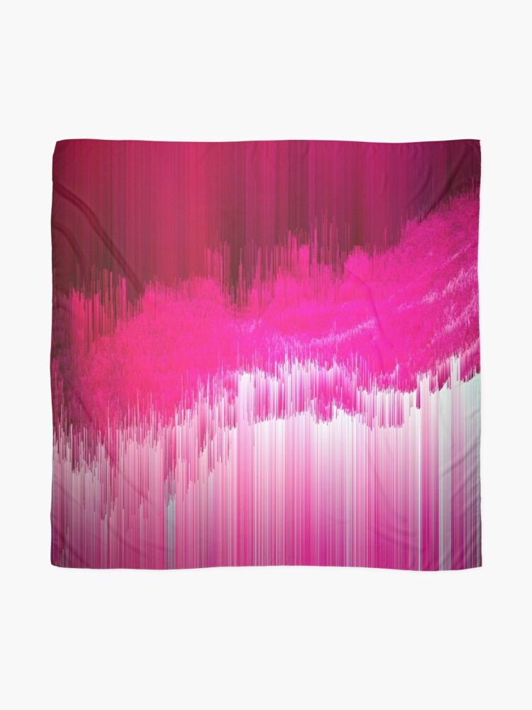 Alternate view of Frisson - Abstract Pixel Art Scarf