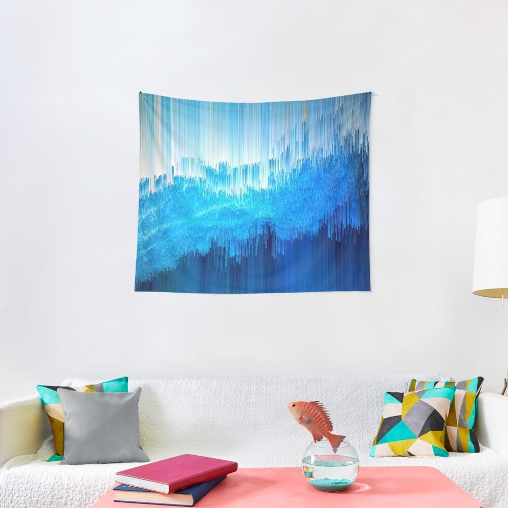 Rhythmic - Abstract Pixel Art Tapestry