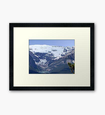 Lake Louise From Afar Framed Print