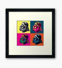 Darth Kitty Pop Framed Print