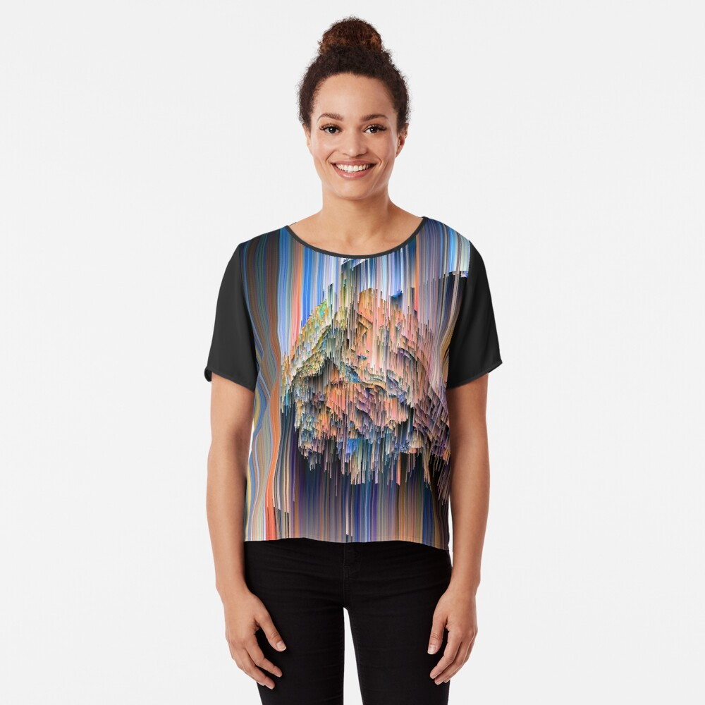 Weird Glitches - Abstract Pixel Art Chiffon Top