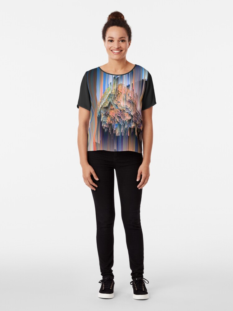 Alternate view of Weird Glitches - Abstract Pixel Art Chiffon Top