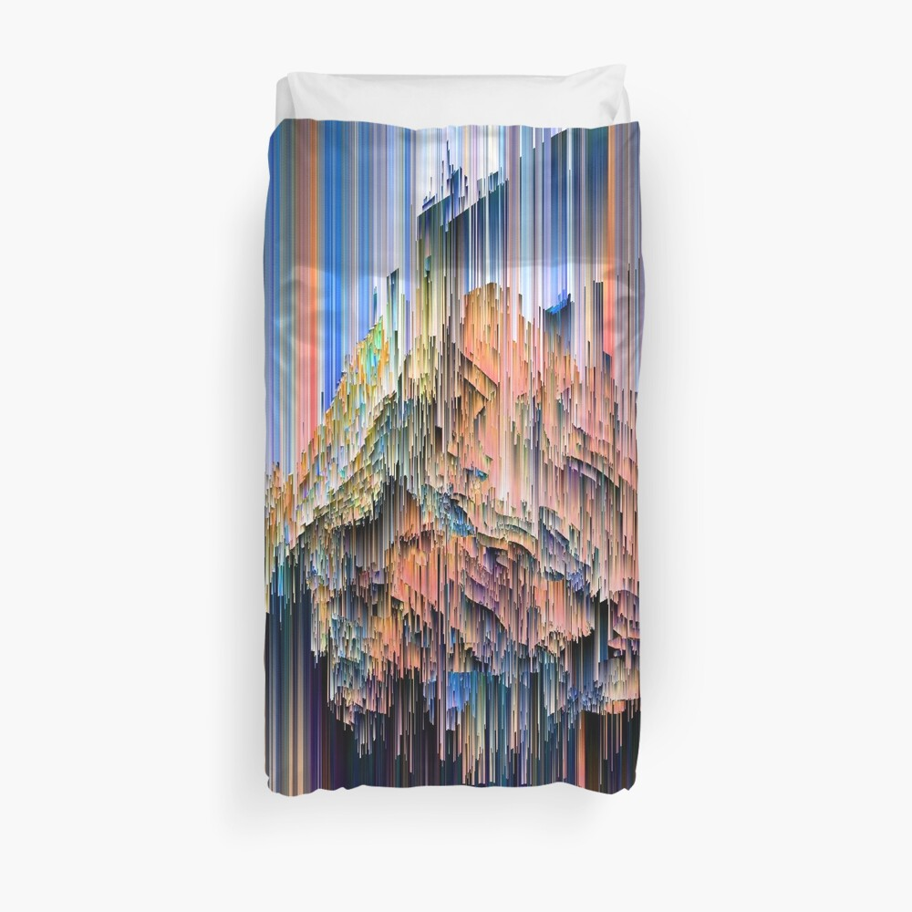 Weird Glitches - Abstract Pixel Art Duvet Cover