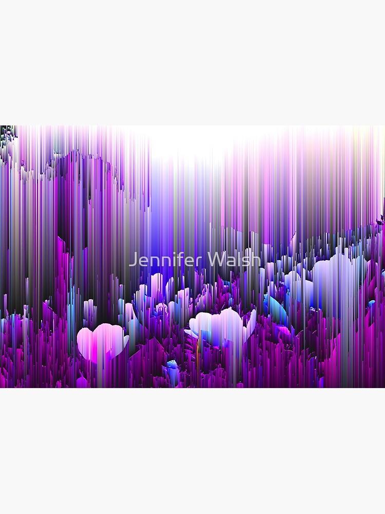 Rain of Lavender - Glitch Abstract Pixel Art by InsertTitleHere