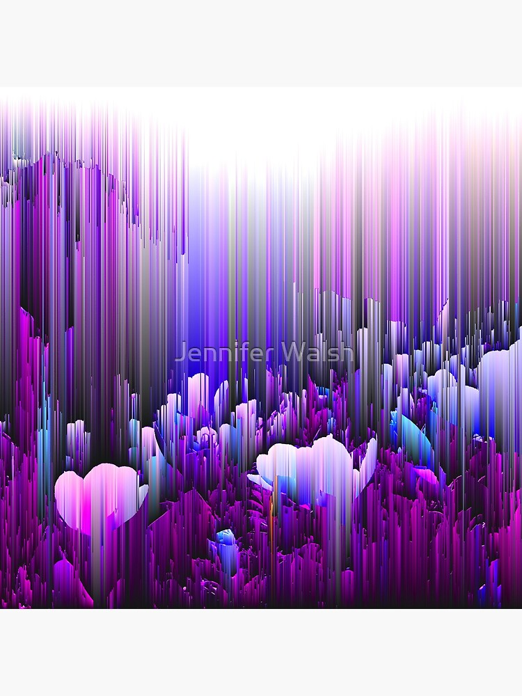 Rain of Lavender - Glitch Abstract Pixel Art by InsertTitleHere