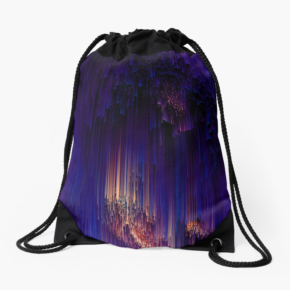 Beglitchment - Abstract Pixel Art Drawstring Bag