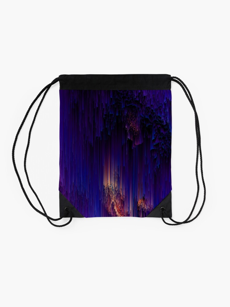 Alternate view of Beglitchment - Abstract Pixel Art Drawstring Bag