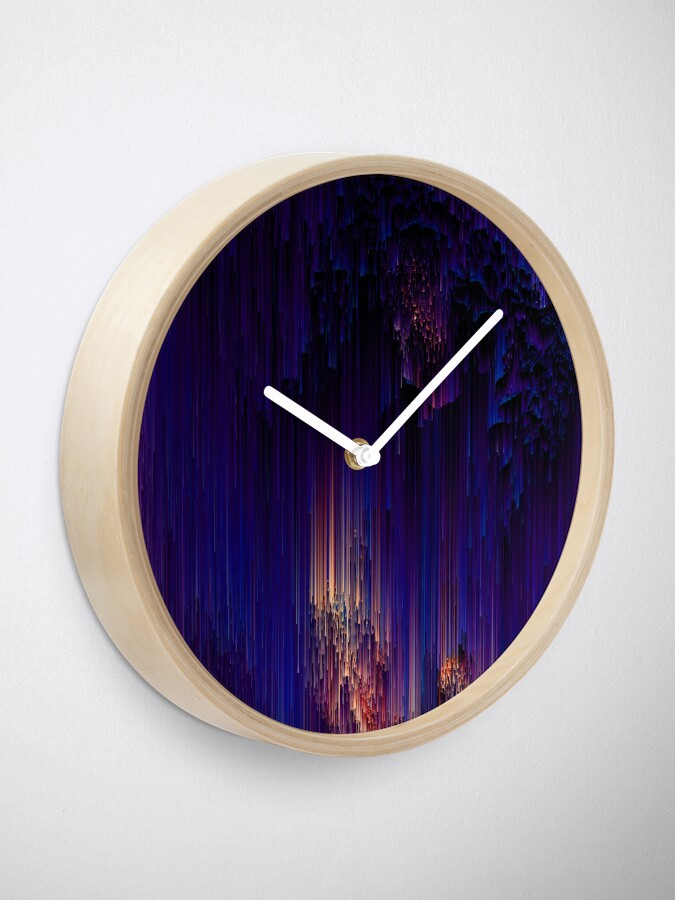 Alternate view of Beglitchment - Abstract Pixel Art Clock