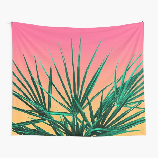 Vaporwave Palm Life - Miami Sunset Tapestry