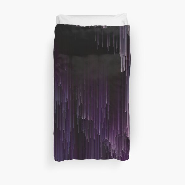 Darkness Glitches Out Duvet Cover