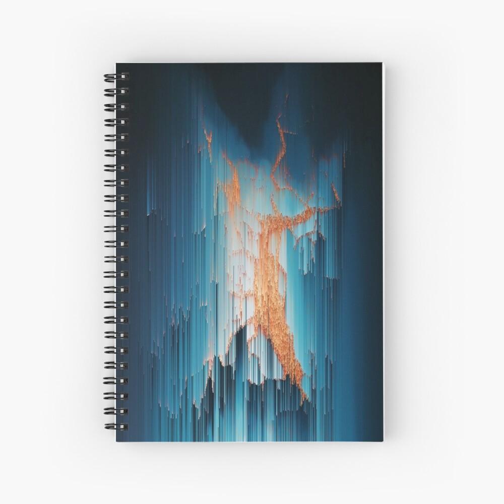 Glitch in the Dark - Abstract Pixel Art Spiral Notebook