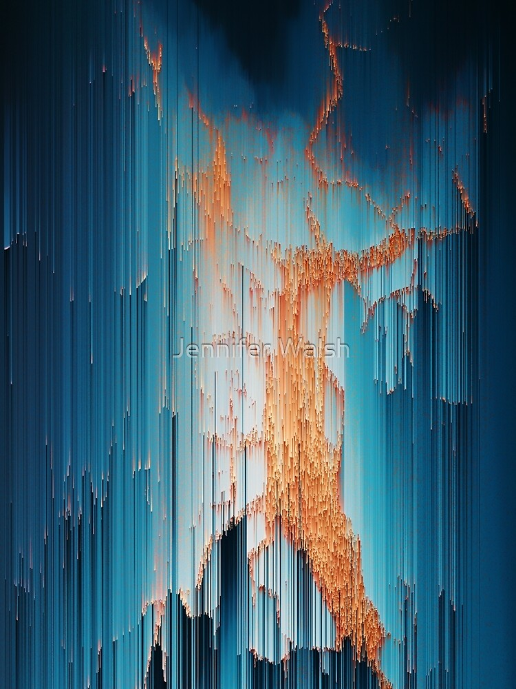 Glitch in the Dark - Abstract Pixel Art by InsertTitleHere