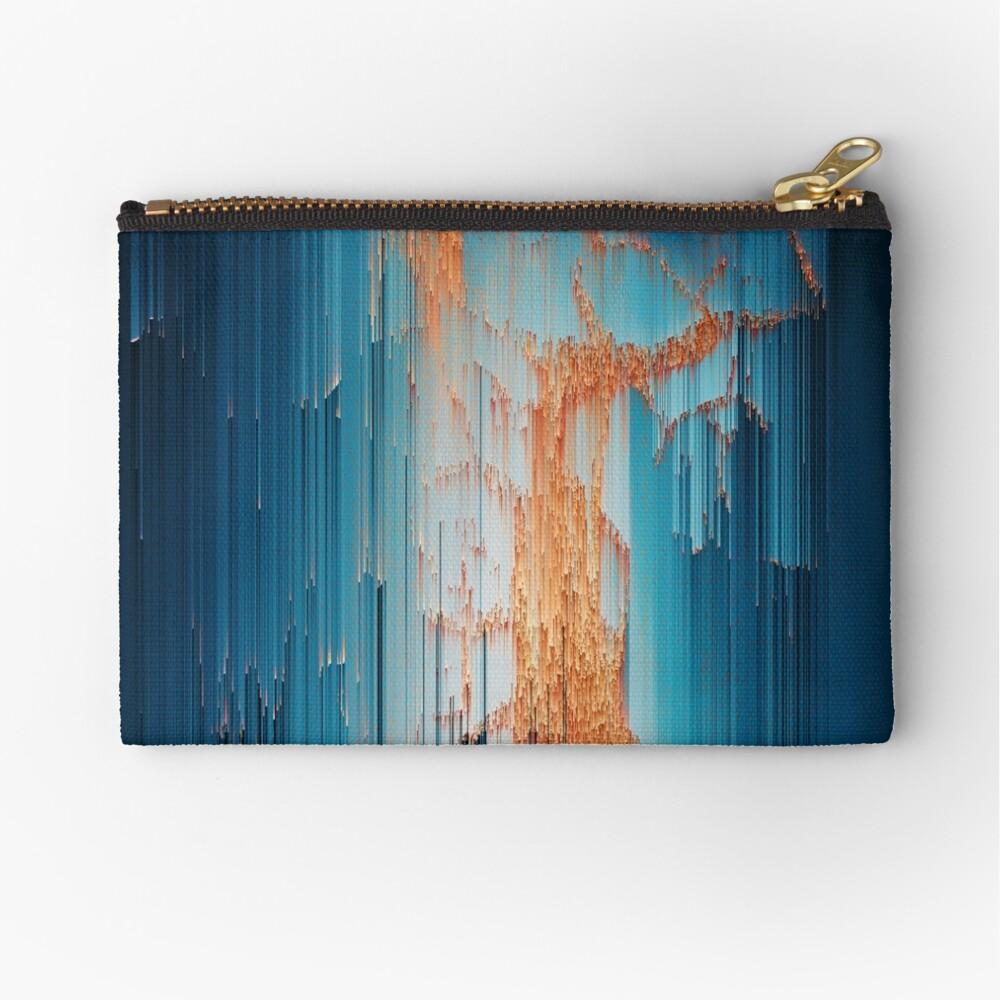Glitch in the Dark - Abstract Pixel Art Zipper Pouch