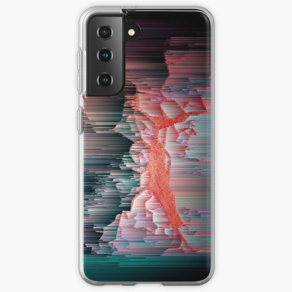 Glitched Out - Abstract Pixel Art Samsung Galaxy Soft Case