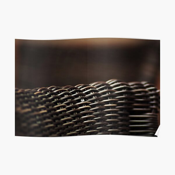 Wicker chairs abstract Poster
