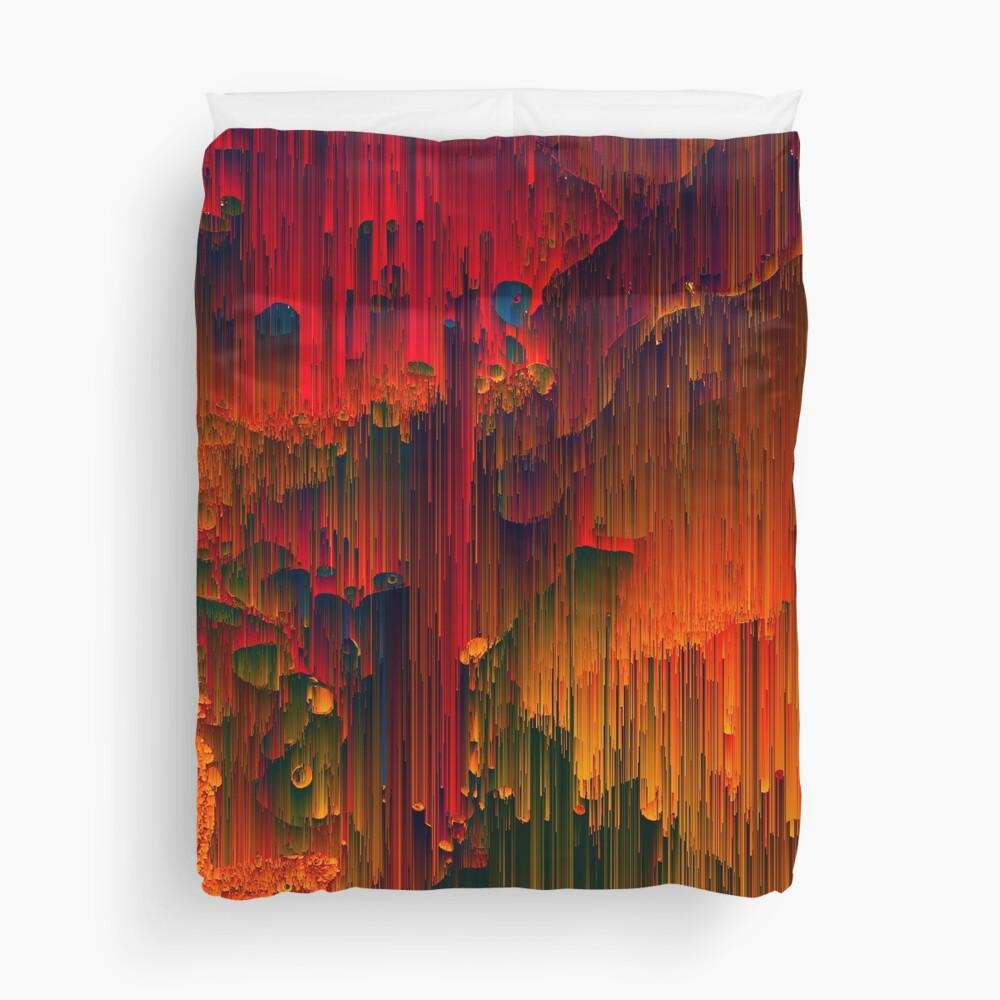 Toxic Rain - A Pixel Art Piece Duvet Cover