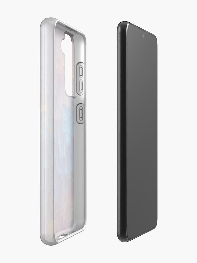 Alternate view of Shower of Gold - Pixel Art Samsung Galaxy Phone Case