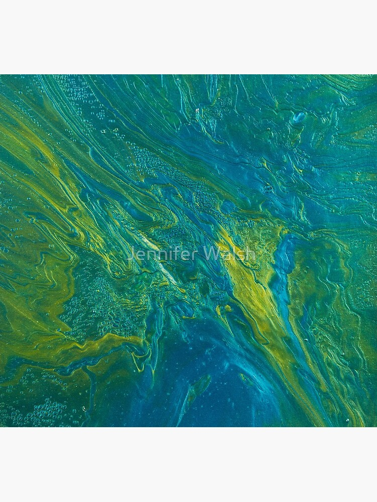 Green & Teal Abstract by InsertTitleHere