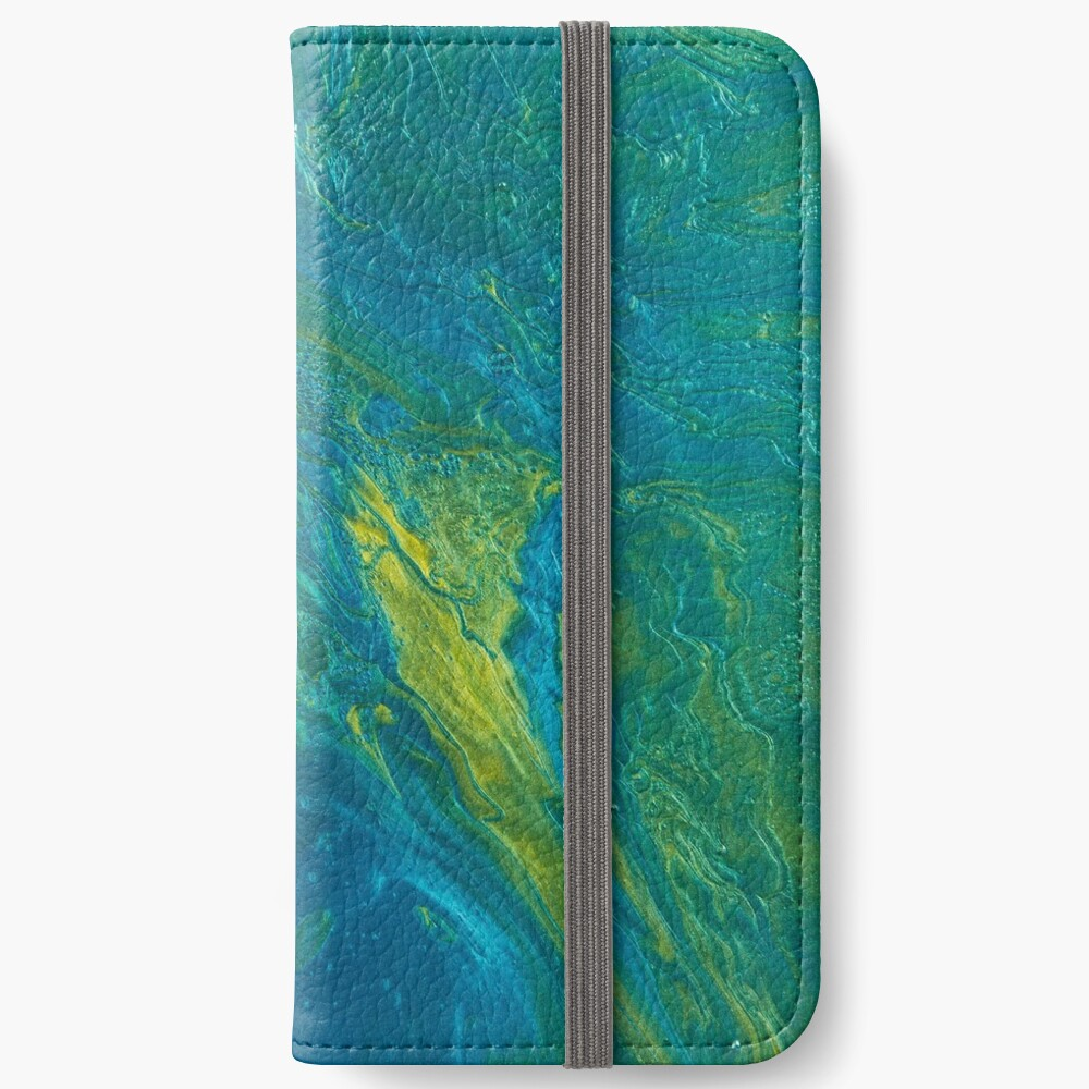 Green & Teal Abstract iPhone Wallet