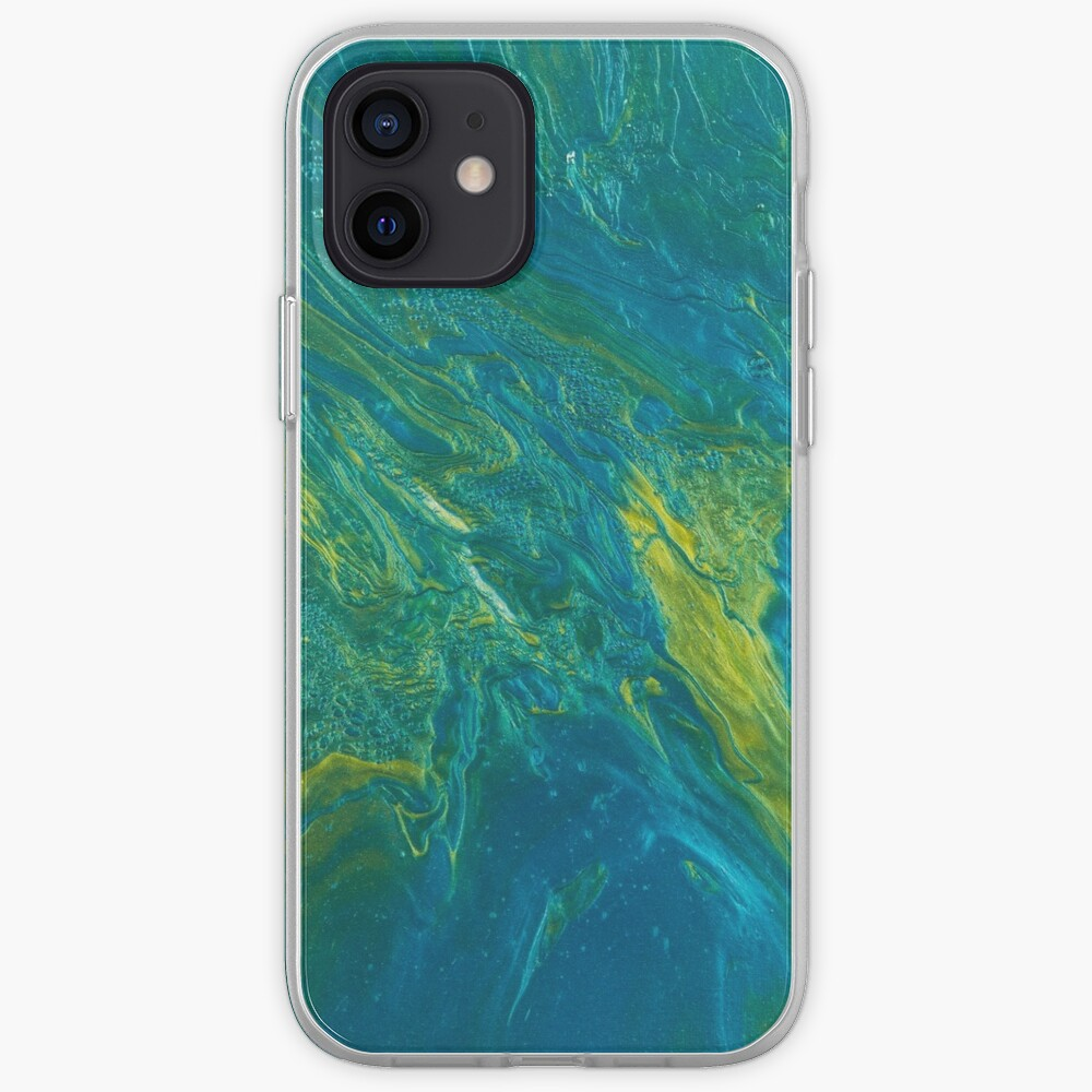 Green & Teal Abstract iPhone Case & Cover