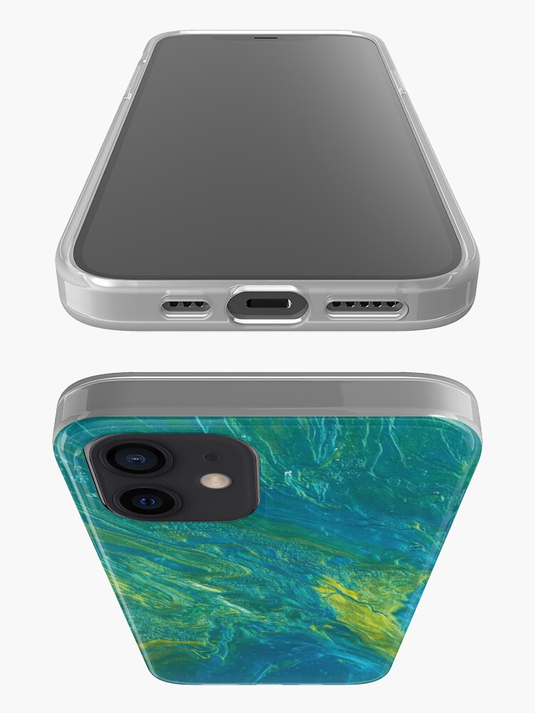 Alternate view of Green & Teal Abstract iPhone Case & Cover