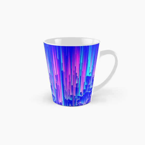 Neon Rain - Digital Abstract Tall Mug