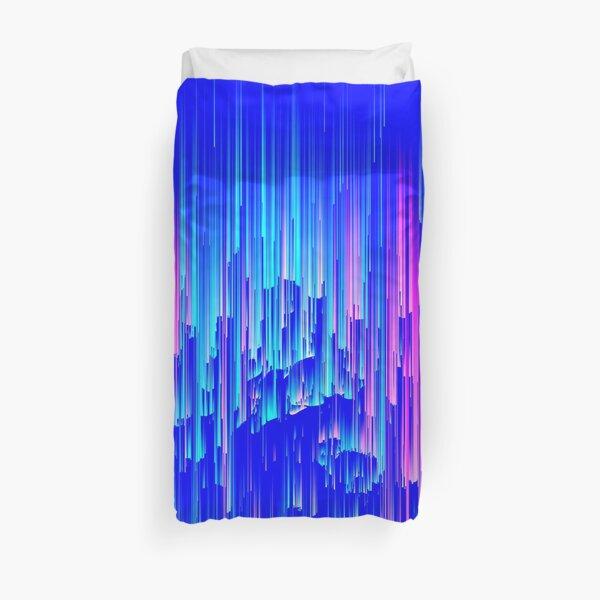 Neon Rain - Digital Abstract Duvet Cover