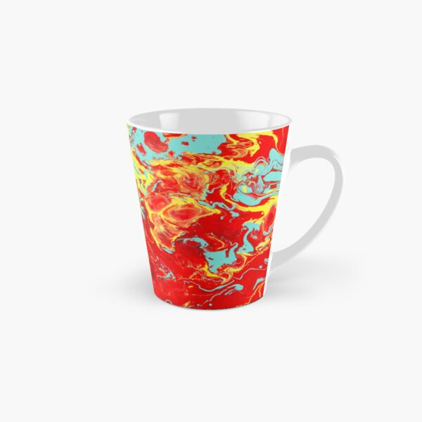Splattered - Red Abstract Tall Mug