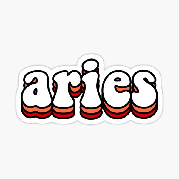 Aries Zodiac Sign Sticker