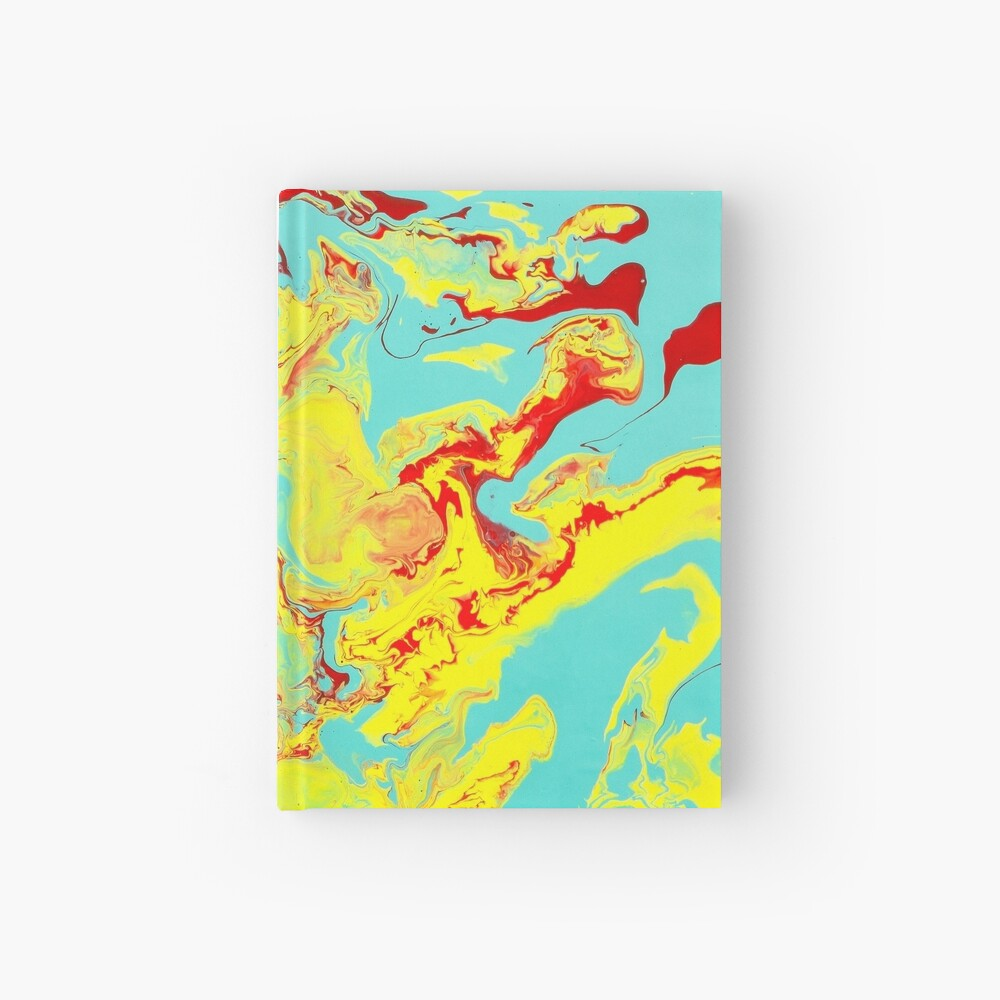 Splashing Down - An Abstract Piece Hardcover Journal
