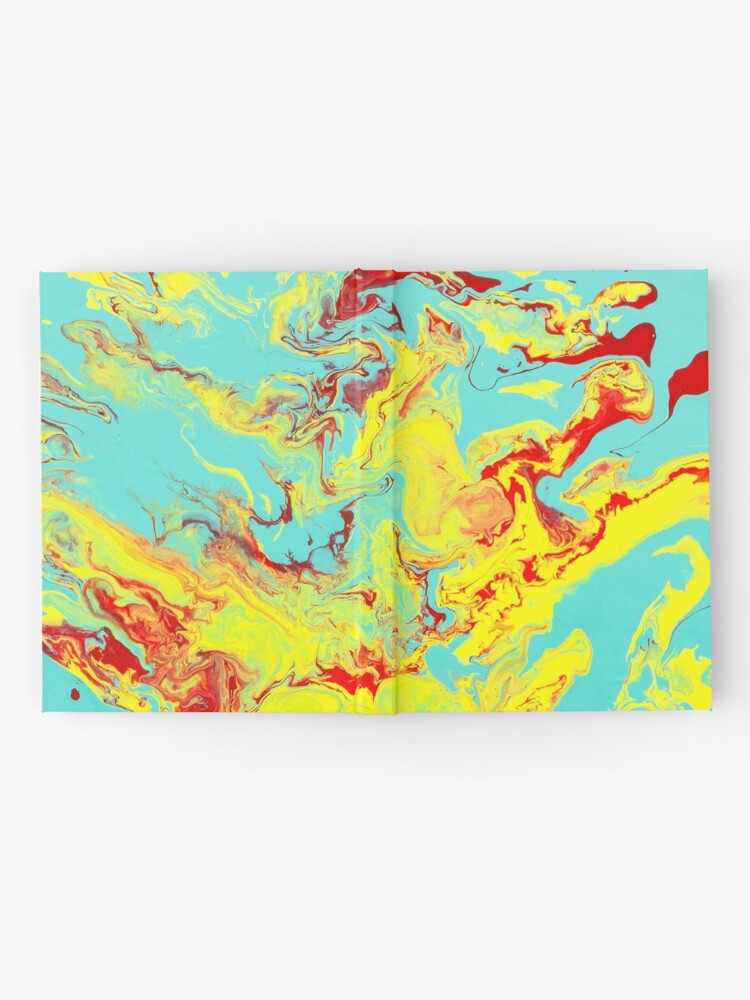 Alternate view of Splashing Down - An Abstract Piece Hardcover Journal