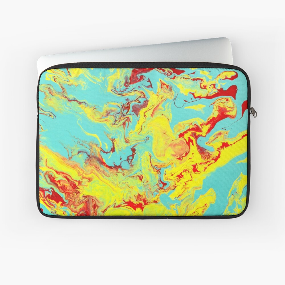 Splashing Down - An Abstract Piece Laptop Sleeve