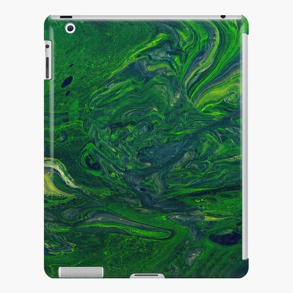 Swirling Jade - An Abstract Piece iPad Case & Skin