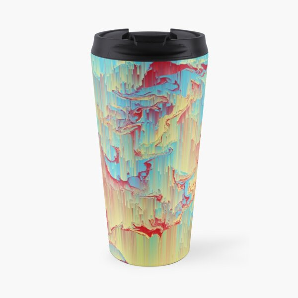 Vivid Storm - An Abstract Glitch Piece Travel Mug