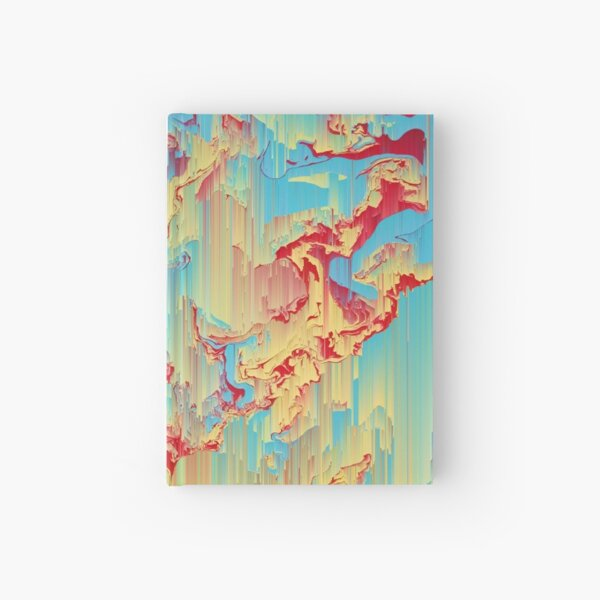 Vivid Storm - An Abstract Glitch Piece Hardcover Journal