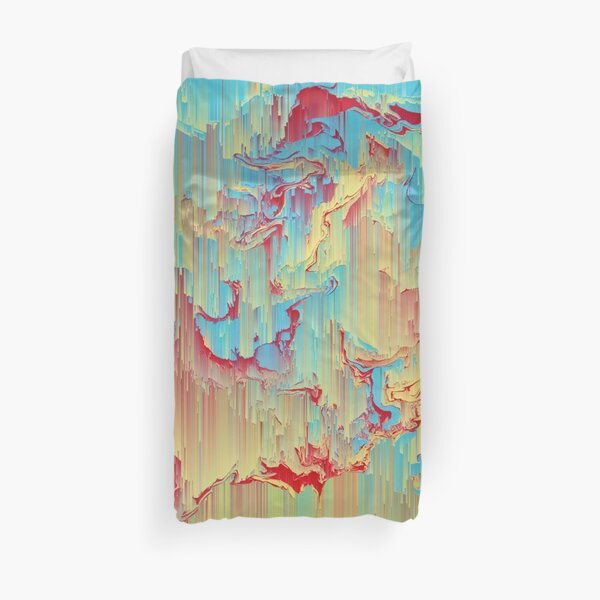 Vivid Storm - An Abstract Glitch Piece Duvet Cover