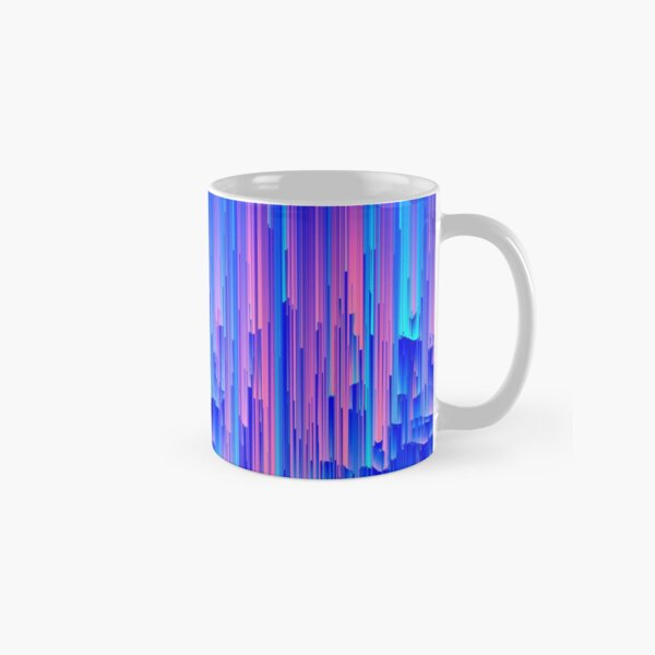 Glitchy Rain - Abstract Digital Piece Classic Mug