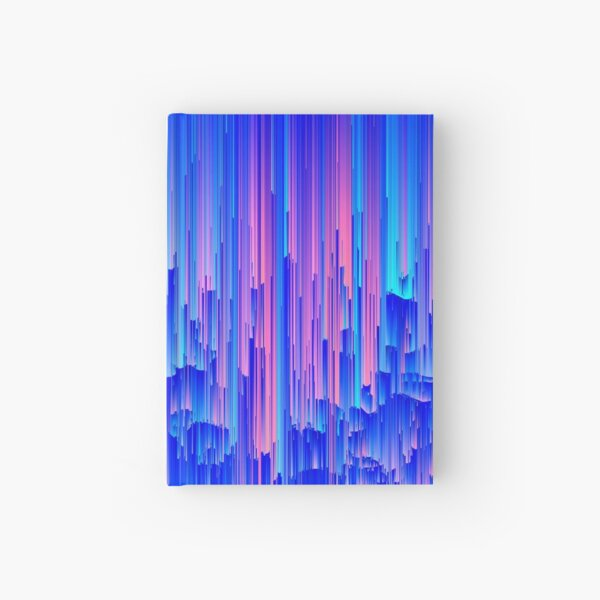 Glitchy Rain - Abstract Digital Piece Hardcover Journal