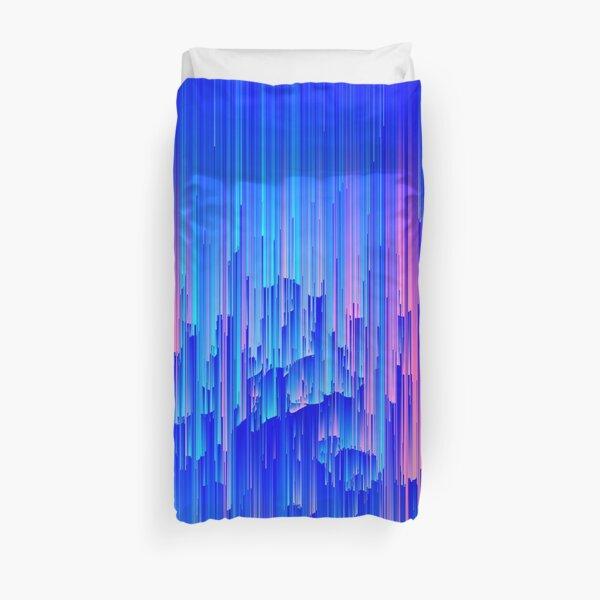 Glitchy Rain - Abstract Digital Piece Duvet Cover