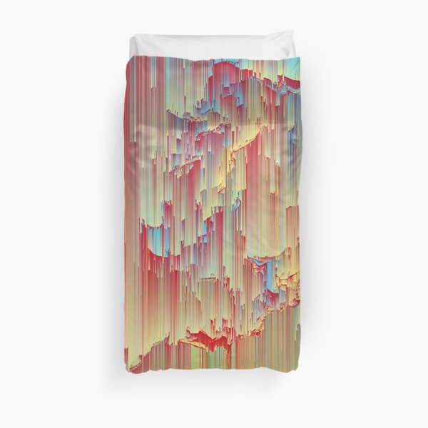 Happy Rain - Glitchy Abstract Duvet Cover