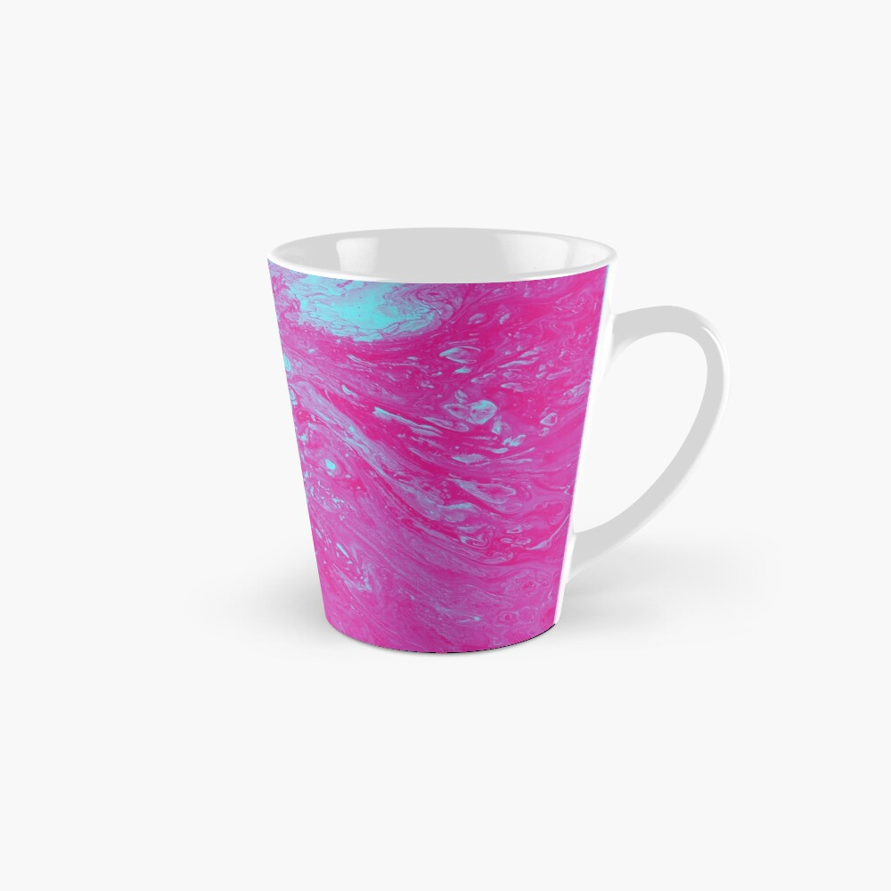 Flood of Pink & Turquoise - An Abstract Piece Mug